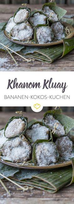 Ein einfaches Dessert, das nach Urlaub schmeckt. In Bananenblättern serviert, wird es auch optisch zu einem absoluten Leckerbissen.