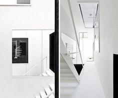 black and white mirror walls