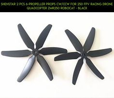 ShenStar 2 PCS 6-Propeller Props CW/CCW For 250 FPV Racing Drone Quadcopter ZMR250 Robocat - Black #tech #gadgets #technology #parts #shopping #drone #250 #plans #camera #kit #fpv #products #racing #robocat