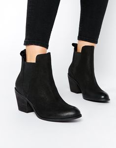 Dune Angelie Heeled Leather Chelsea Boots