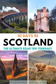 This ULTIMATE 10 day Scotland itinerary will have you exploring incredible lochs, isles, castles, cities, and culture.  Everything you need to know to help you plan your Scotland road trip, including when to visit, how to travel, how to drive in Scotland and all the best places to visit.  Scotland Road Trip | Scotland Itinerary | Scotland Travel | Things to See in Scotland | What to See in Scotland | Scotland Highlands | Isle of Skye | Best Things to Do in Scotland | Scotland Travel Guide Scotland Road Trip, Scotland Travel Guide, Scotland Vacation, Places In Scotland, Ireland Travel, Visiting Scotland, Best Places To Travel, Cool Places To Visit, Places To Go
