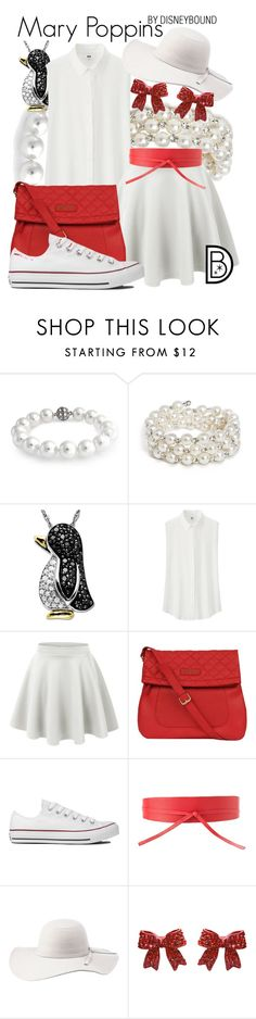 """""""Mary Poppins"""" by leslieakay ❤ liked on Polyvore featuring Bling Jewelry, Lord & Taylor, Uniqlo, LE3NO, Kenneth Cole, Converse, MANGO, Charlotte Russe, disney and disneybound"""