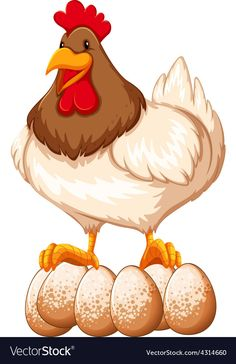 Chicken vector image on VectorStock Chicken Vector, Adobe Illustrator, Vector Free, Illustration, Artwork, Eggs, Pdf, Animals, Image