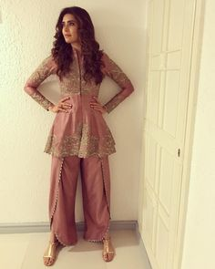 Be in harmony wit urself ! Pakistani Dresses, Indian Dresses, Indian Outfits, Ethnic Fashion, Colorful Fashion, Indian Fashion, Indian Attire, Indian Wear, Long Kurti With Skirt