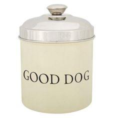 Buy it now ProSelect Stainless Steel Good Dog Treat Canister, Ivory Best Treats For Dogs, Dog Treats, Best Dogs, Bowl Diner, Dog Water Bottle, Dog Christmas Gifts, Dog Branding, Bolster Dog Bed, Wet Dog Food