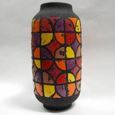 Large 1960s Fat Lava Multi Coloured Italian Floor Vase £75