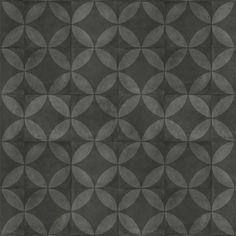 Tarkett | Almara - Tile Flower Black 400 cm breed, €18,74 m2