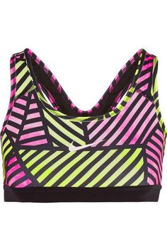 Pro Classic printed Dri-FIT stretch sports bra #bra #offduty #women #covetme #nike