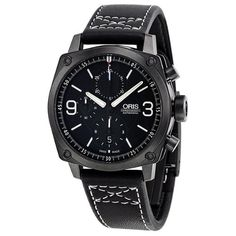 nice Oris 4e RHFS Automatic Chronograph Grey PVD Stainless Steel Mens Watch 674-7616-4284LS