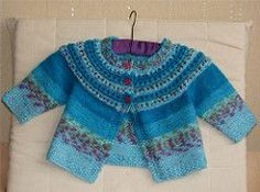 Fresh Picked Color Cardigan is the child version. Baby Cardigan Knitting Pattern, Knitted Baby Cardigan, Knit Baby Sweaters, Knitted Baby Clothes, Baby Knitting Patterns, Baby Patterns, Knitting For Kids, Knitting Yarn, Only Cardigan