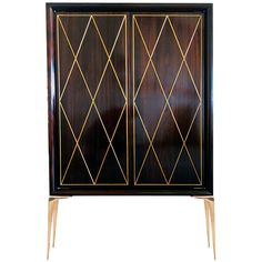Diamond Front Stiletto Bar Cabinet - 1st dibs
