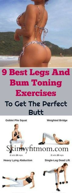 9 Crazy Effective Legs And Bum Toning Exercises To Lift Your Buttocks! Check out. - 9 Crazy Effective Legs And Bum Toning Exercises To Lift Your Buttocks! Check out this workout in or - Bum Workout Toned, Bigger Bum Workout, Toning Workouts, At Home Workouts, Bigger Buttocks Workout, Slimmer Legs Workout, Fitness Exercises, Exercise Buttocks, Fitness Herausforderungen