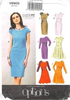 VOGUE 8902 - FROM 2013 - UNCUT - MISSES DRESS