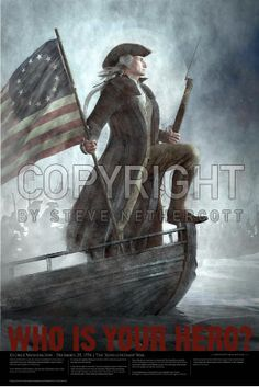 American Hero Poster Matte Finish Print - George Washington Crosses the Delaware in the Revolutionary War Poster x Huge Poster Large high resolution print Text from the story on the poster Amazing detail Quality matte finish paper George Washington, Washington Art, American Presidents, American War, American History, Presidents Usa, I Love America, God Bless America, Independencia Usa