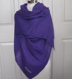 purple shawl . woven purple shawl. moschino . moschino shawl by vintagous on Etsy