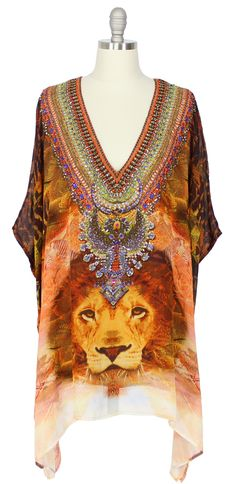 Camilla Short V-Neck Kaftan