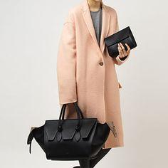 Celine coat and TIE bag