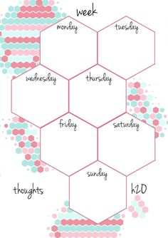PB and J Studio: Free Printable Planner Inserts Candy Hexagon in A5                                                                                                                                                                                 More