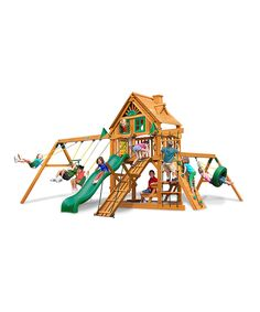 Loving this Frontier Treehouse Amber Posts Playset on #zulily! #zulilyfinds