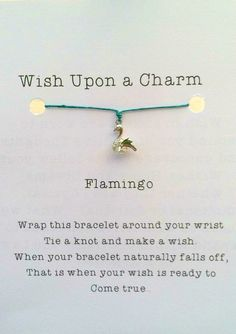 Flamingo Wish Bracelet Rhodium Silver & Cubic by JensLuckyElephant