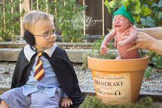 So awesome!  Mandrake baby. And the kid is wearing earmuffs!