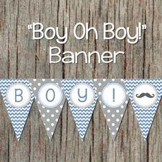 Printable Baby Shower Banner Little Man by BumpAndBeyondDesigns
