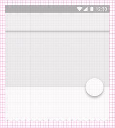 Material Design layout encourages consistency across platforms, environments, and screen sizes by repeating visual elements and using consistent spacing. Web Design, Layout Design, Google Design Guidelines, Android Material, Google Material Design, Interface Design, Wireframe, Inspiration, Amp