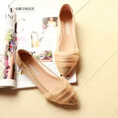 shoes - http://zzkko.com/n234819-013-spring-new-Korean-version-of-the-hollow-gold-lace-breathable-pointed-flat-shoes-with-a-single-solid-color-women-flat-shoes-princess.html $18.84