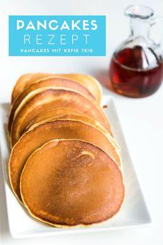 Ein Rezept fürPancakes mit Kefir Teig.Die Pancakes aus dem Rezept werden schön fluffig und weich.Zutaten: 200 g Kefir 2 Eier 150 g Mehl 1 TLBackpulver ½ TL Soda 2 EL Zucker 1 EL ÖlServieren mit: Ahornsirup / Butter/ Nutella/Schlagsahne
