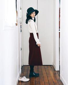 424 個讚,4 則留言 - Instagram 上的 A.milus(@a_unefille):「 Bonjour 🌞 . #ootd #今日のコーデ #コーデ #帽子 #hat #chapeaux #jupe #skirt #スカート 」