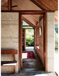Architecture Renovation, Residential Architecture, Contemporary Architecture, Rammed Earth Homes, Rammed Earth Wall, Detail Architecture, Pavilion Architecture, Cabana, Earthy Home