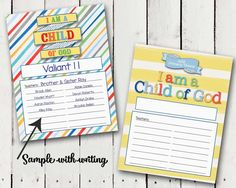 """The 2018 Primary theme is """"I am a Child of God."""" I will be posting FREE PRINTS at the bottom of this post. Check back often as I will be ..."""