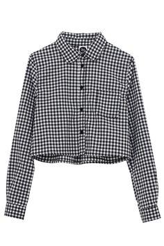 Long Sleeve Crop Shirt Gingham http://www.thewhitepepper.com/