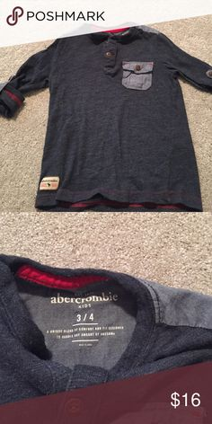 Soft Henley Shirt- Kids! Excellent condition! Very soft Navy Henley! One of my personal favs of my kids clothes abercrombie kids Shirts & Tops Tees - Long Sleeve