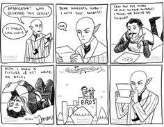 bros ..hahaha   #Dragon Age Inquisition #Solas #Dorian