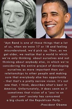 President Obama on Ayn Rand & the GOP