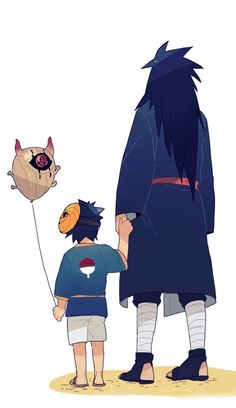 Madara and Tobi. Sweet #madara #obito #uchiha #sweet