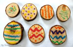 An easy and fun melted crayon wood craft for Easter or any time.