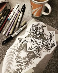 sur *inspiration* en 2019 art, art sketches et art inspo Art Inspo, 4 Tattoo, Arte Sketchbook, Pretty Art, Art Tips, Art Tutorials, Cool Drawings, Tattoo Inspiration, Art Sketches