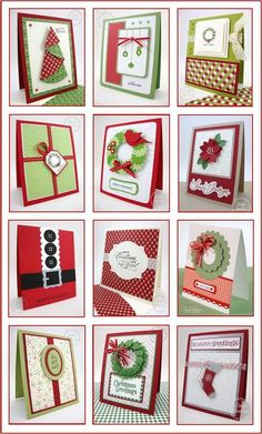 Stampin' Up! ... handmade Christmas cards ... clean and simple styles ... great selection ...