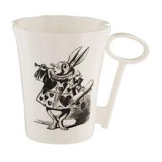 Alice in Wonderland Rabbit Mug with Key Handle | Whittard
