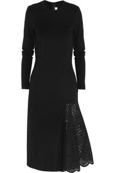 Stella McCartney|Lace-paneled stretch-jersey dress|NET-A-PORTER.COM