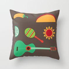 Fiesta throw pillow $20.00 http://society6.com/product/feista-3_pillow#25=193&18=126