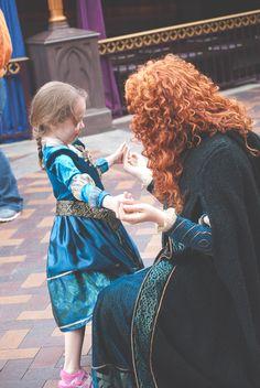 Merida meeting a little princess!