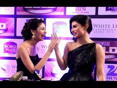 Mauni Roy & Sriti Jha at Zee Gold Awards 2016.