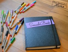Smash Book fun and creative yet simple way to make . It's like a scrap book for people who don't have a lot of time on their hands . It's really cute