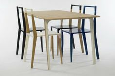 Minimalist and Refined Dining Set: TABBED Collection