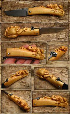 Gerdil Лоран - Скульптура - Piemontais Лезвие XC 75 Микаэль Moing, самшит ручка