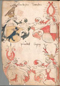 Wernigeroder (Schaffhausensches) Wappenbuch Süddeutschland, 4. Viertel 15. Jh. Cod.icon. 308 n  Folio 141v