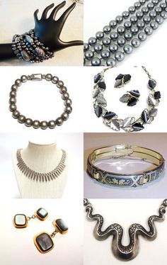 Vintage Grey Jewel Palette |Holiday Gift Guide| by Ann on Etsy--Pinned with TreasuryPin.com